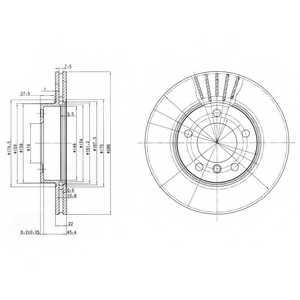 Тормозной диск DELPHI BG2623 - изображение