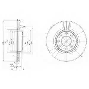 Тормозной диск DELPHI BG2625 - изображение