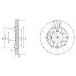Тормозной диск DELPHI BG2628 - изображение