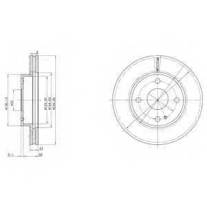 Тормозной диск DELPHI BG2629 - изображение