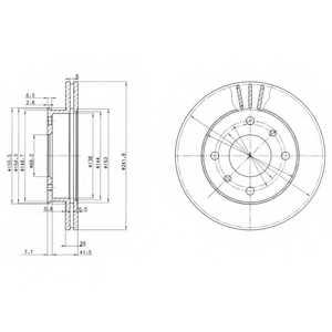 Тормозной диск DELPHI BG2632 - изображение