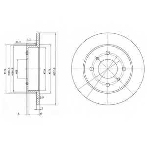 Тормозной диск DELPHI BG2633 - изображение