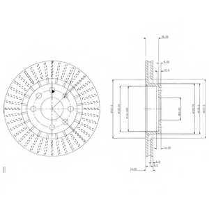 Тормозной диск DELPHI BG2636 - изображение