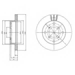 Тормозной диск DELPHI BG2645 - изображение
