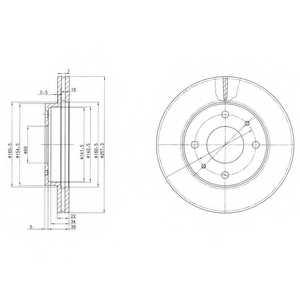 Тормозной диск DELPHI BG2657 - изображение