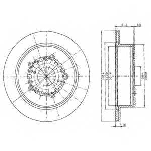 Тормозной диск DELPHI BG2662 - изображение