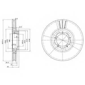 Тормозной диск DELPHI BG2663 - изображение