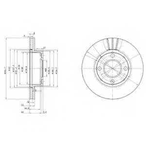 Тормозной диск DELPHI BG2668 - изображение