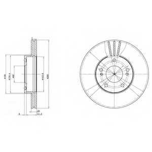 Тормозной диск DELPHI BG2682 - изображение