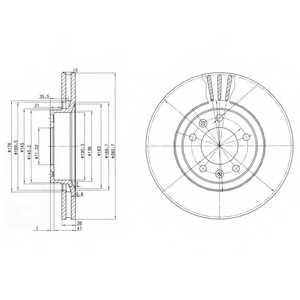 Тормозной диск DELPHI BG2688 - изображение