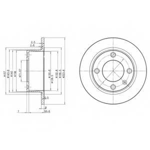 Тормозной диск DELPHI BG2691 - изображение
