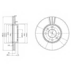 Тормозной диск DELPHI BG2693 - изображение