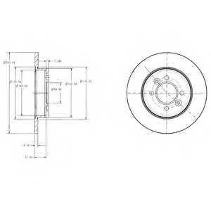 Тормозной диск DELPHI BG2694 - изображение