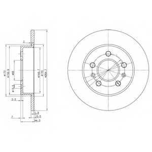 Тормозной диск DELPHI BG2696 - изображение