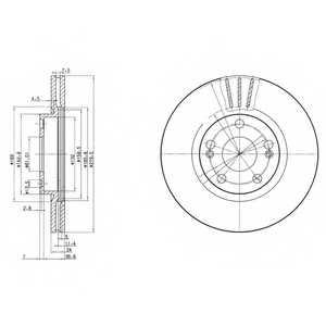 Тормозной диск DELPHI BG2697 - изображение