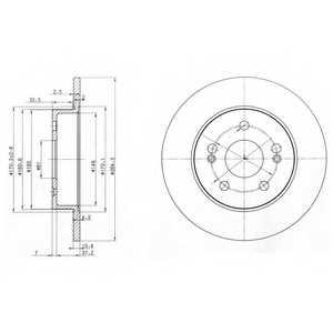 Тормозной диск DELPHI BG2698 - изображение