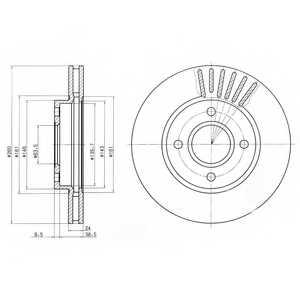 Тормозной диск DELPHI BG2699 - изображение