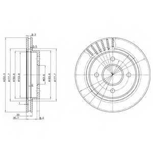 Тормозной диск DELPHI BG2700 - изображение
