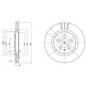 Тормозной диск DELPHI BG2713 - изображение