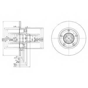 Тормозной диск DELPHI BG2714 - изображение