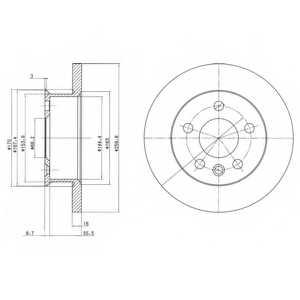 Тормозной диск DELPHI BG2716 - изображение