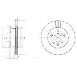 Тормозной диск DELPHI BG2717 - изображение