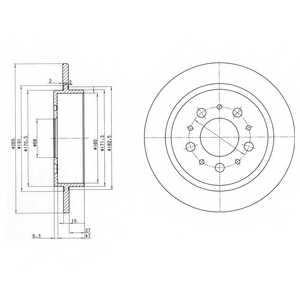 Тормозной диск DELPHI BG2718 - изображение