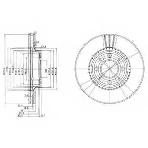 Тормозной диск DELPHI BG2720 - изображение