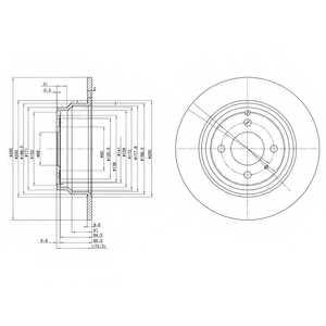 Тормозной диск DELPHI BG2721 - изображение