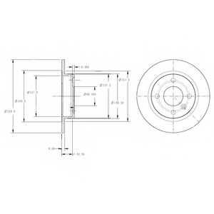Тормозной диск DELPHI BG2732 - изображение