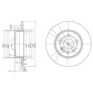 Тормозной диск DELPHI BG2738 - изображение