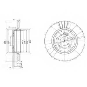 Тормозной диск DELPHI BG2740 - изображение