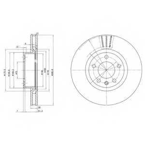 Тормозной диск DELPHI BG2742 - изображение