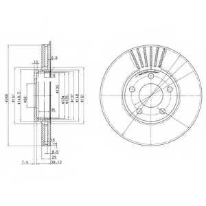 Тормозной диск DELPHI BG2745 - изображение