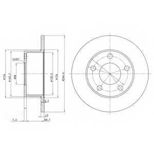Тормозной диск DELPHI BG2746 - изображение