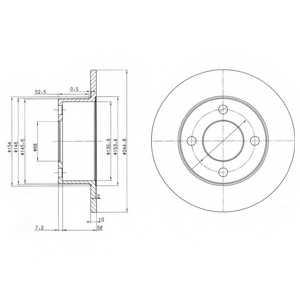 Тормозной диск DELPHI BG2747 - изображение