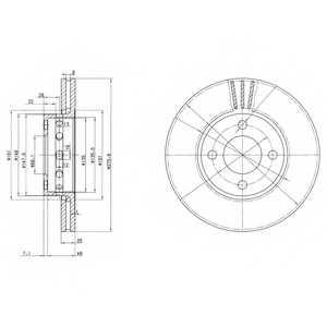 Тормозной диск DELPHI BG2748 - изображение