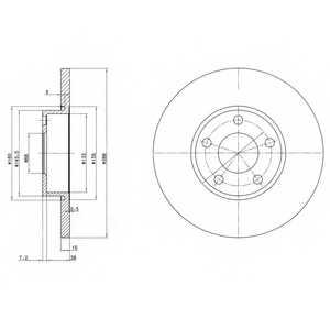 Тормозной диск DELPHI BG2749 - изображение