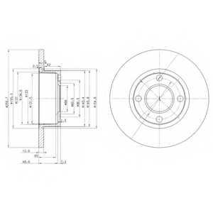 Тормозной диск DELPHI BG2752 - изображение