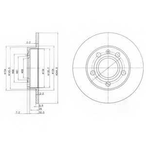 Тормозной диск DELPHI BG2753 - изображение
