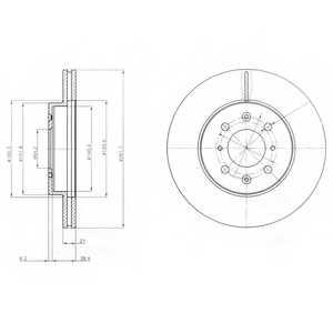 Тормозной диск DELPHI BG2759 - изображение