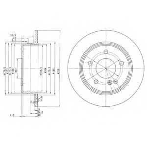 Тормозной диск DELPHI BG2761 - изображение