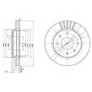 Тормозной диск DELPHI BG2763 - изображение