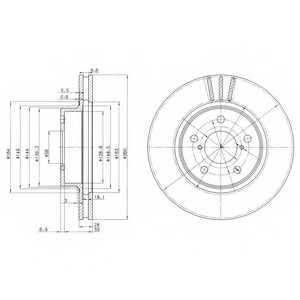 Тормозной диск DELPHI BG2767 - изображение