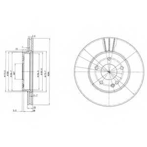 Тормозной диск DELPHI BG2768 - изображение