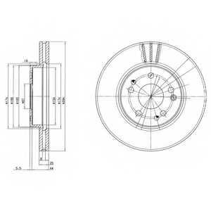 Тормозной диск DELPHI BG2772 - изображение