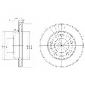 Тормозной диск DELPHI BG2779 - изображение