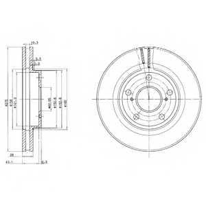 Тормозной диск DELPHI BG2782 - изображение