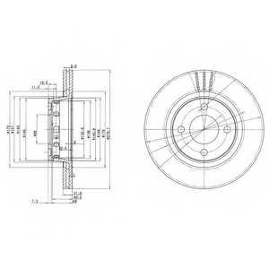 Тормозной диск DELPHI BG2784 - изображение