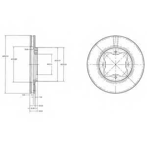Тормозной диск DELPHI BG2798 - изображение